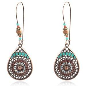 Jewelry - Bohemian Water Drop Shaped Alloy Long Earrings